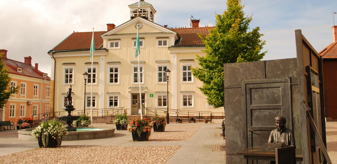 The tourist office in the center of Vimmerby